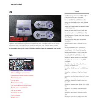 SNES Classic Mini Mods & Hacks - Modding and Hacking Tutorials for Your SNES Classic Mini