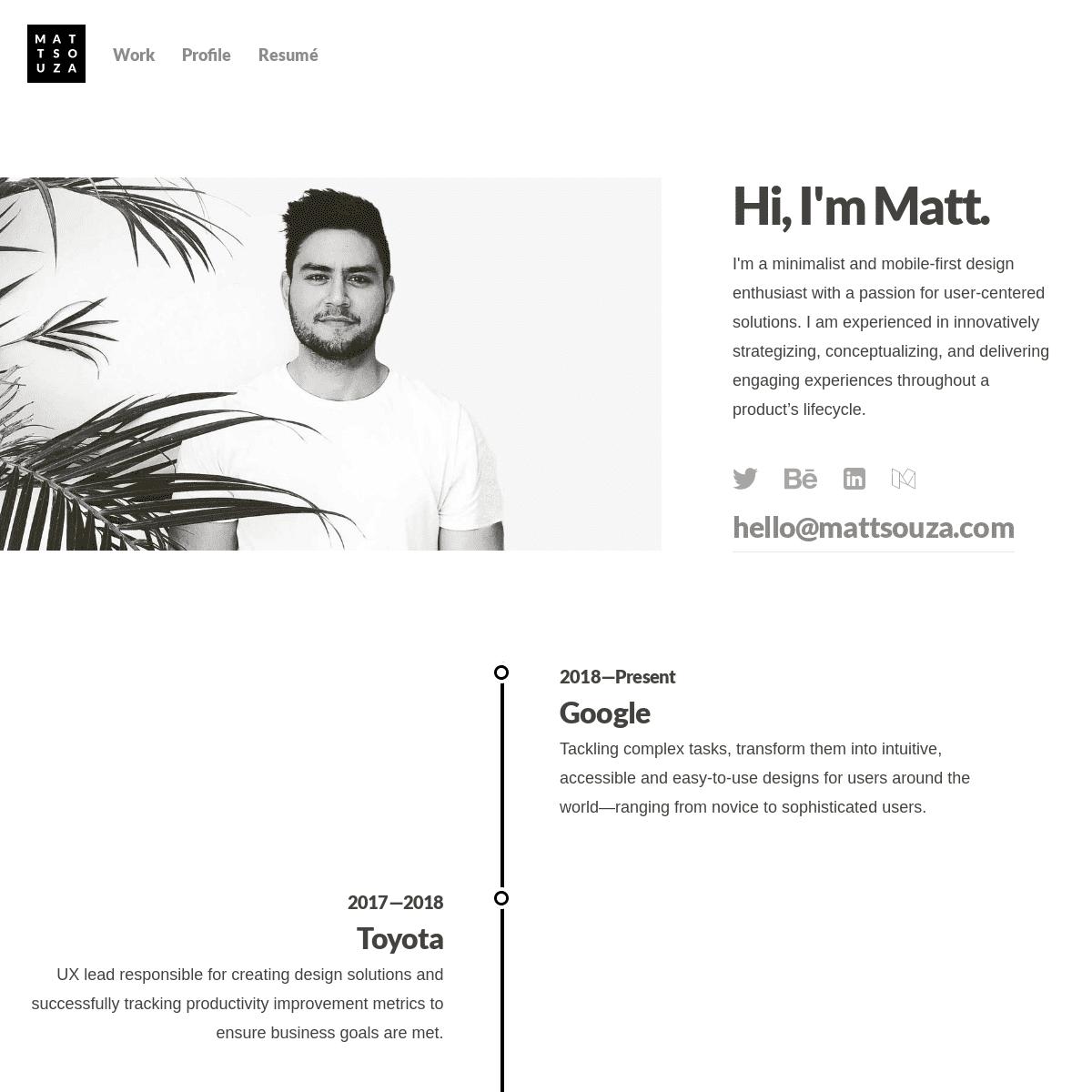 Matt Souza — Product Designer