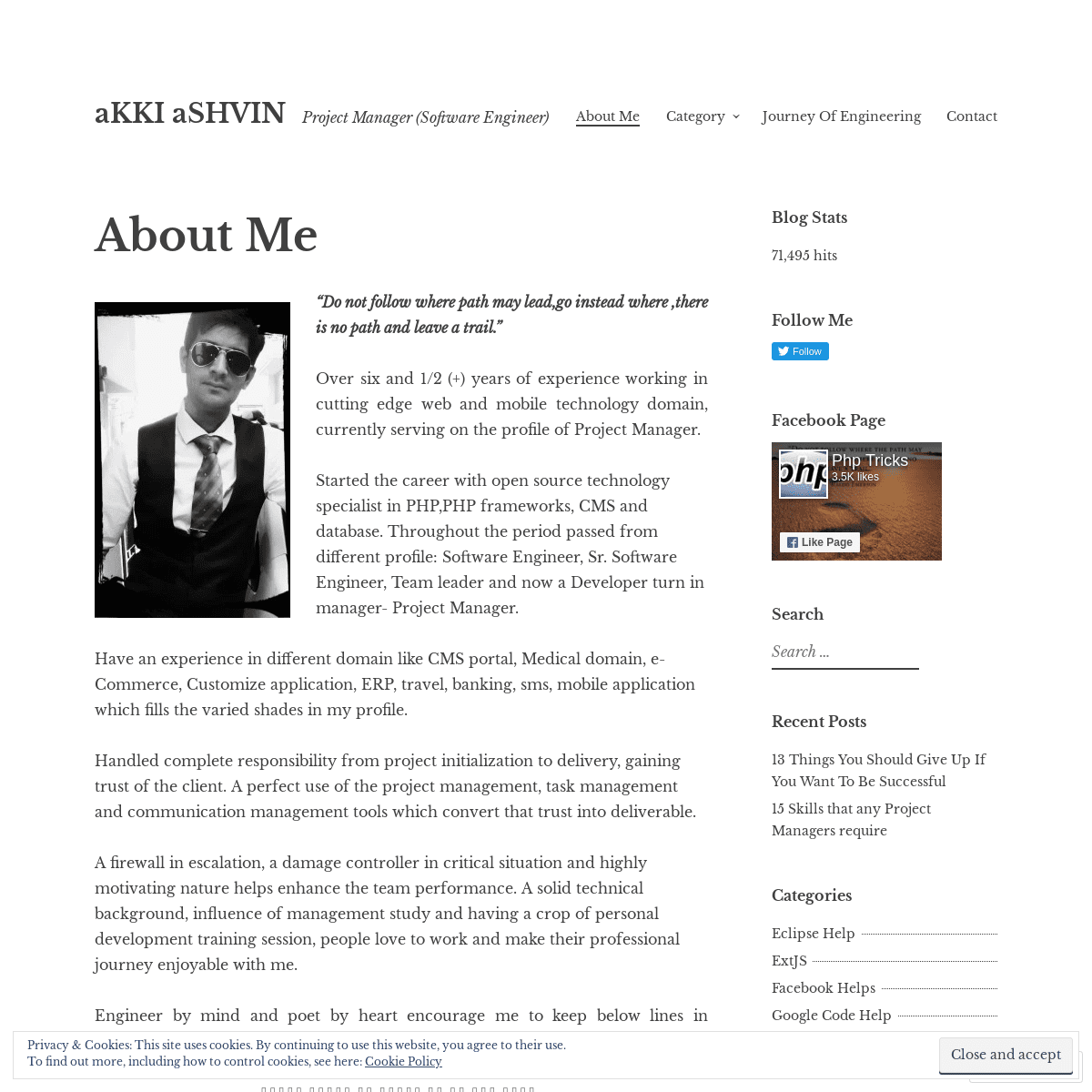 aKKI aSHVIN – Project Manager (Software Engineer)