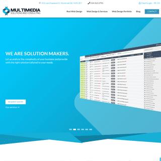 Montreal Web design and Web Development, Real Web Design, no templates - Multimedia XP