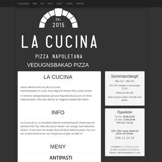 ArchiveBay.com - lacucina-lund.se - La Cucina Vedugnsbakad Pizza Hantverksgatan 8 Lund 22736