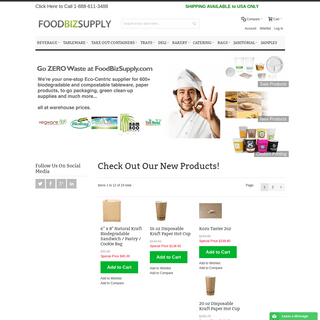 ArchiveBay.com - foodbizsupply.com - Eco Friendly Biodegradable Restaurant Supplies - Food Biz Supply EcoFriendly
