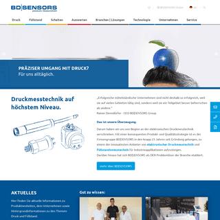 ArchiveBay.com - bdsensors.de - Druckmesstechnik für die Industrie - Drucksensoren von BD-SENSORS
