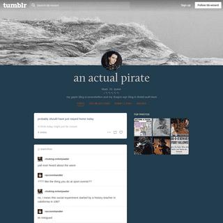 an actual pirate