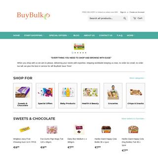 Bulk Groceries & Household goods, Major Brands, Free house Delivery – BuyBulk