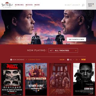 New Movies & Latest Showtimes - ShowBiz Cinemas