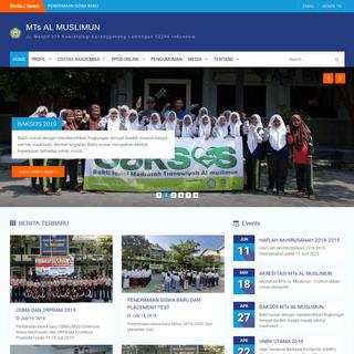MTs AL MUSLIMUN – JL.Masjid 279 Kawistolegi Karanggeneng Lamongan 62254 Indonesia