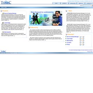ArchiveBay.com - tonec.com - Tonec Home, Offshore Software Development, Custom Programming, Web Design