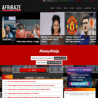 AlwaysNaija- Latest Music, Videos, Tvseries, Movies and More