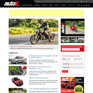 New Cars in India, Bikes in India, Automobile News, Reviews & Comparisons - autoX