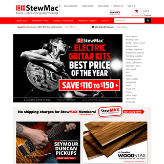 Stewart-MacDonald- Everything for building and repairing stringed instruments! - stewmac.com