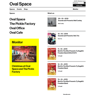 An evolving multi-use arts and events organization - Oval Space