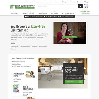 Green Building Supply, Non Toxic Supplies, Environmentally Friendly Materials