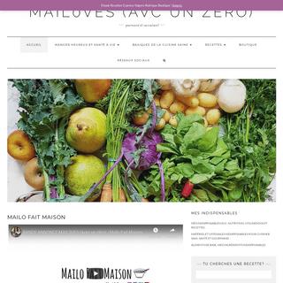 Mailo Fait Maison- - Les recettes saines et faciles de Mail0ves..
