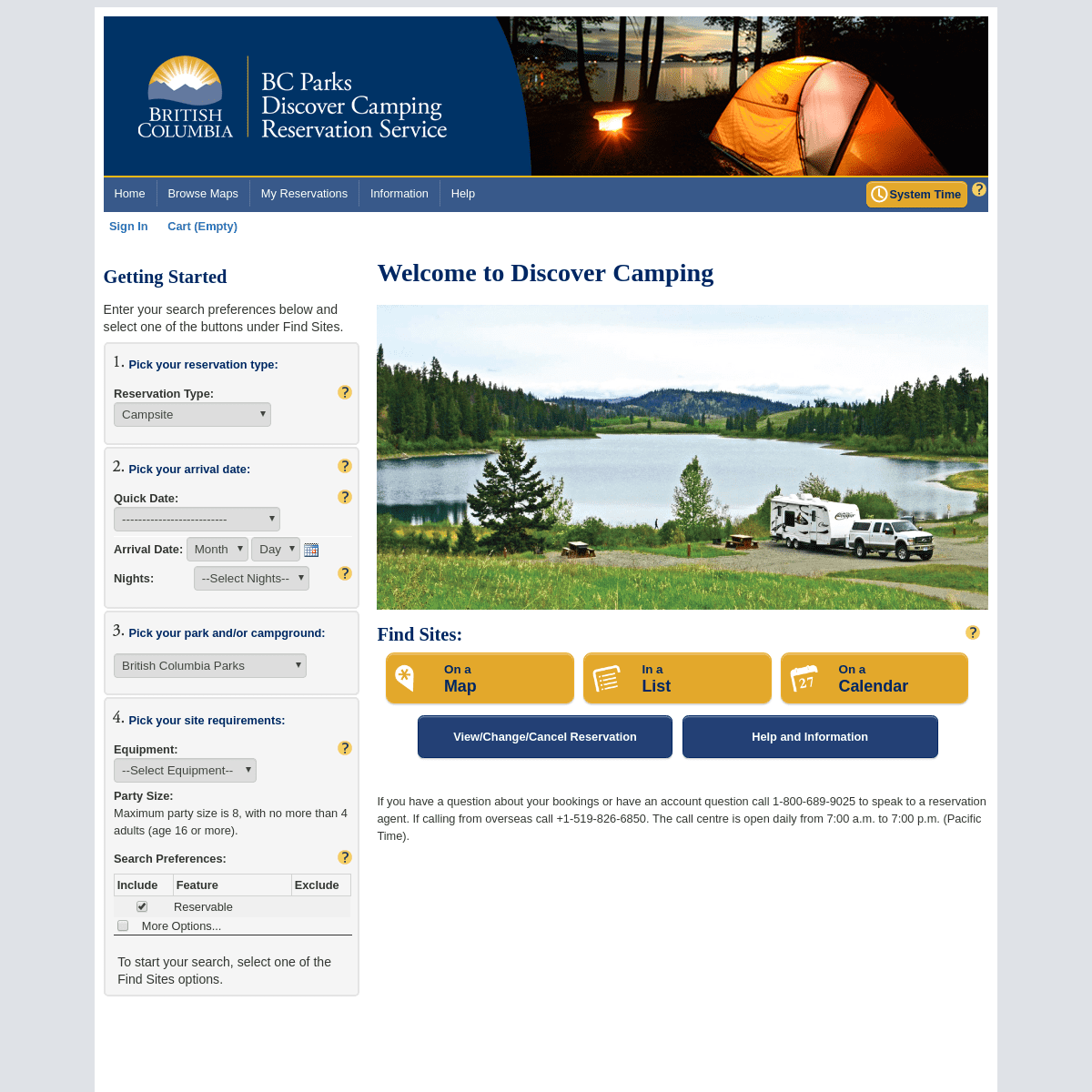 Home - Discover Camping Reservation System