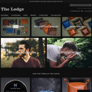 The Lodge - Man Shop- Men's Grooming and Accessories – THE LODGE