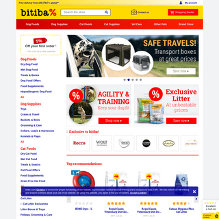 Big Discounts on Dog Food, Cat Food, Pet Accessories and more at bitiba!