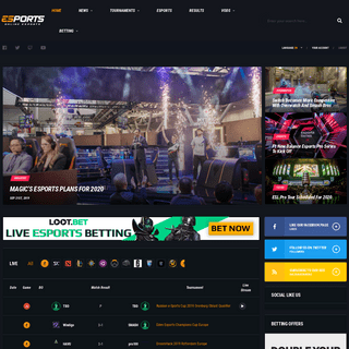 Esports News - Live Scores, VODS, Tournaments Games- OnlineeSports.com