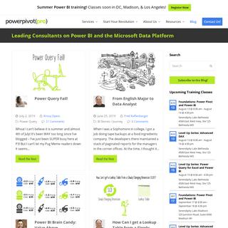 PowerPivotPro - Leading Consultants on Power BI and the Microsoft Data Platform