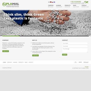 HOME - Plamal - Βιομηχανία πλαστικών ειδών & εύκαμπτων υλικών συσκευασίας