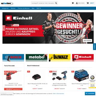 Werkzeug Shop- Günstig Werkzeuge & Gartengeräte kaufen - myToolStore.de