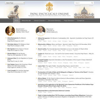 The Papal Encyclicals Online