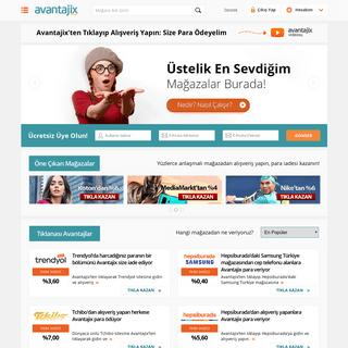 Avantajix - İnternetten Alışveriş Yapanlara Para Veren Site