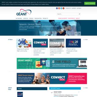 Welcome to the GÉANT website
