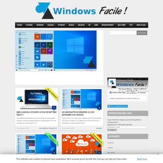 WindowsFacile - tutoriels pour ordinateur, tablette et smartphone