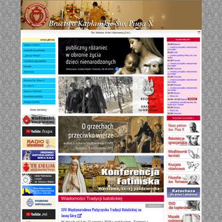Serwis internetowy Bractwa Św. Piusa X w Polsce