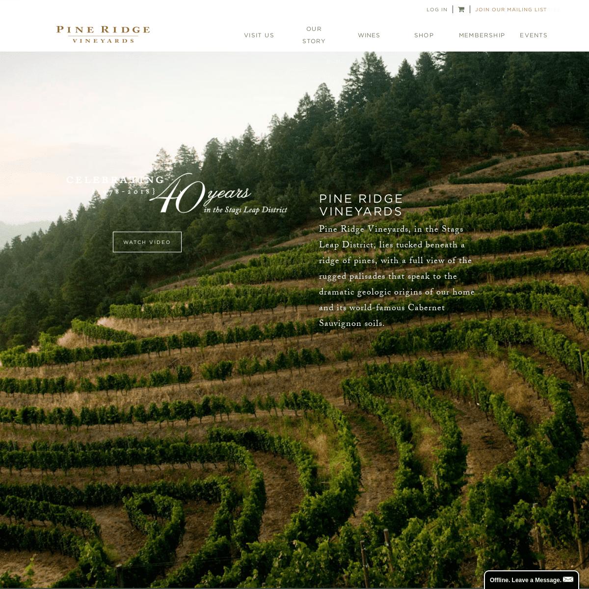 Pine Ridge Vineyards - Stags Leap District - Napa Valley ...