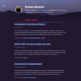 Home - Kostas Bariotis' Blog