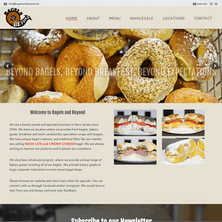 Bagels & Beyond - Breakfast, Lunch and Much More