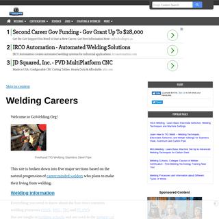 Welding Career Information, Schools, Jobs and Business Opportunities!