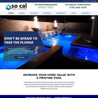 So Cal Pool Plaster - Remodeling, Resurfacing & Plastering - Orange County