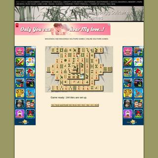 Mahjongg Solitaire - Mahjongg Solitaire Games