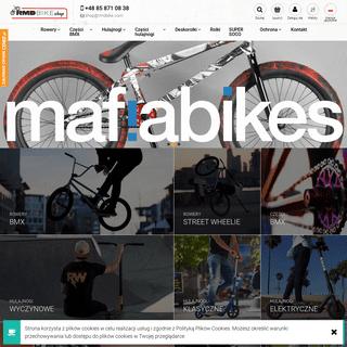 Sklep rowerowy, BMX, MTB, hulajnogi wyczynowe i deskorolki elektryczne - RMDBIKE shop