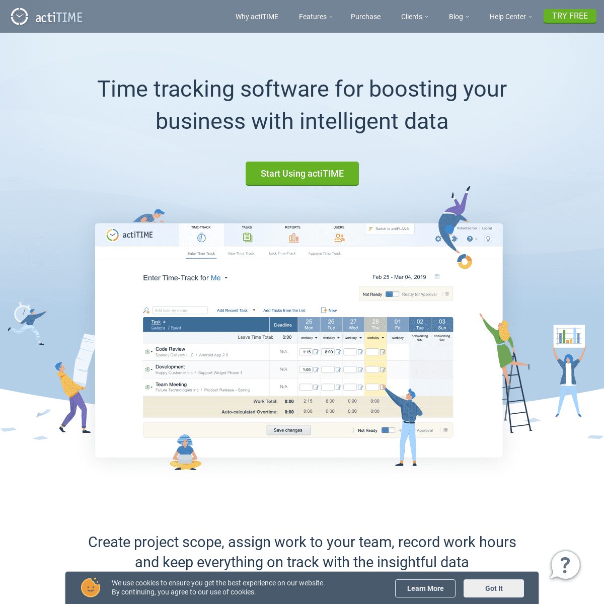 actiTIME - Time Tracking Software for Boosting Your Business