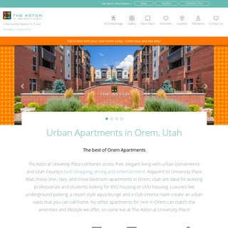 Apartments in Orem Utah — The Aston at University Place
