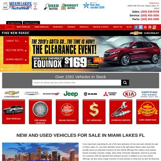 Miami Lakes Automall - Chevrolet, Kia, Dodge, Chrysler, Jeep, RAM, Mitsubishi