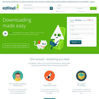 • Rapideo.pl - the best quality downloader. All popular premium services in one account