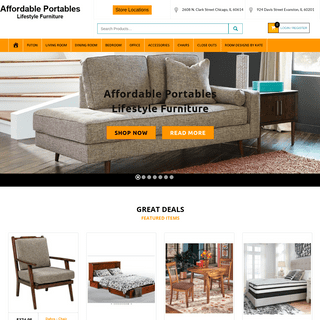 ArchiveBay.com - affordableportables.net - Low Cost Furniture Stores in Chicago area - Affordable Portables