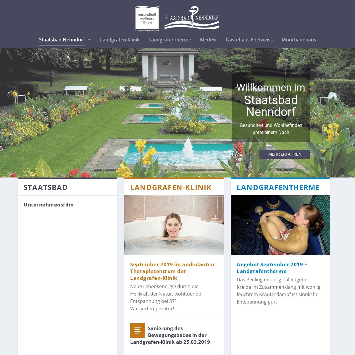 Staatsbad Nenndorf - Gesundheit und Wohlbefinden unter einem Dach