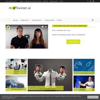 Motiviran.si - Prvi slovenski portal o motivaciji