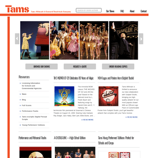 Tams-Witmark - The premier licensor of classic Broadway musicals