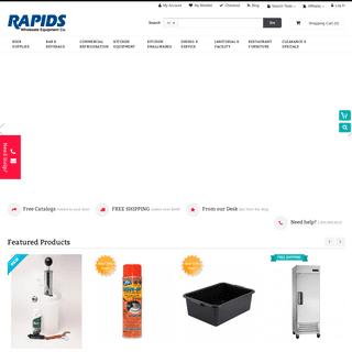 Restaurant and Bar Supplies - Refrigeration - Foodservice Equipment - Rapids Wholesale