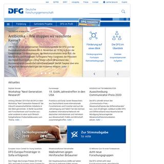 DFG - Deutsche Forschungsgemeinschaft