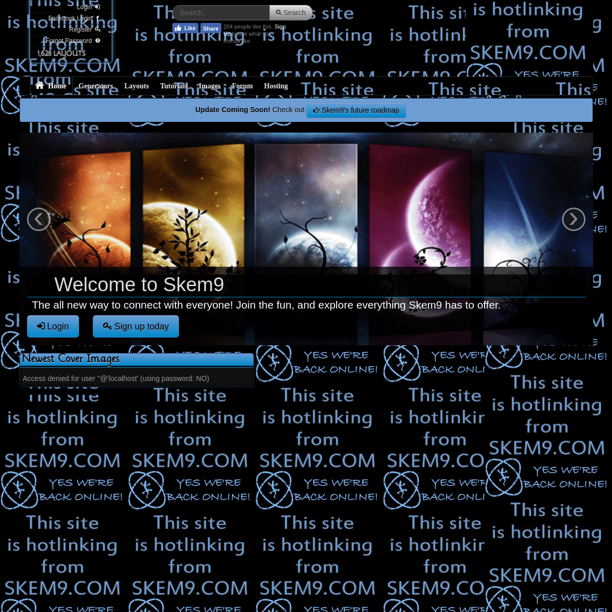 Skem9 .^. Layouts, Codes, Tutorials, Generators, and Images for your website or favorite Social Network site. .^.
