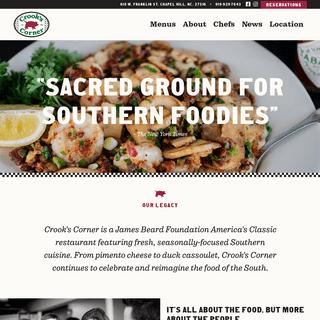 Crooks Corner - Shrimp and Grits, Seasonal Southern Cuisine, Chapel Hill