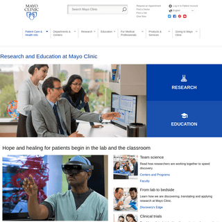 Education and Research at Mayo Clinic - Education and Research at Mayo Clinic